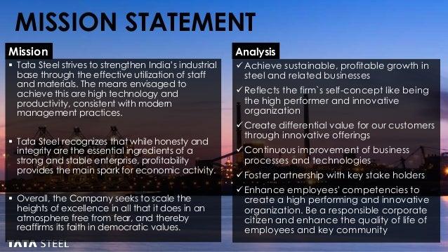 tata steel mission statement