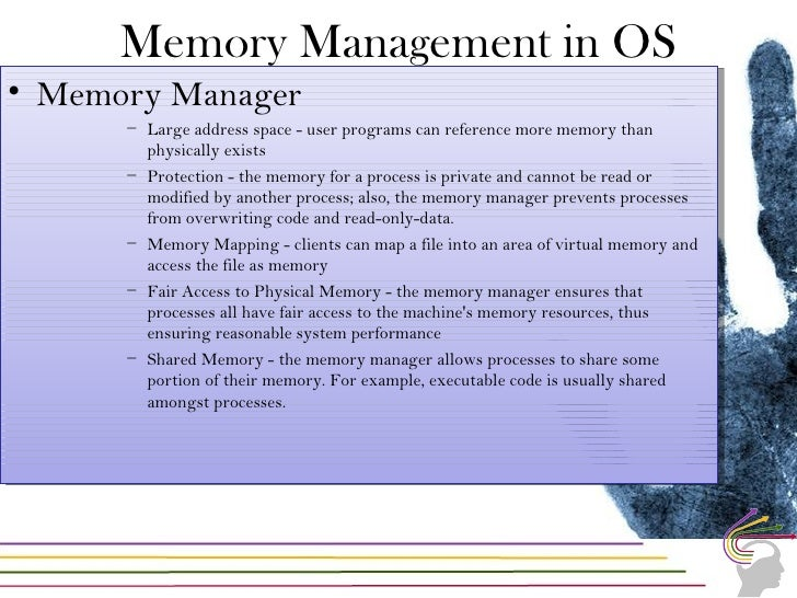 What can be found in memory• The running processes• The Running threads• The passwords/ Keys and other information• Live r...