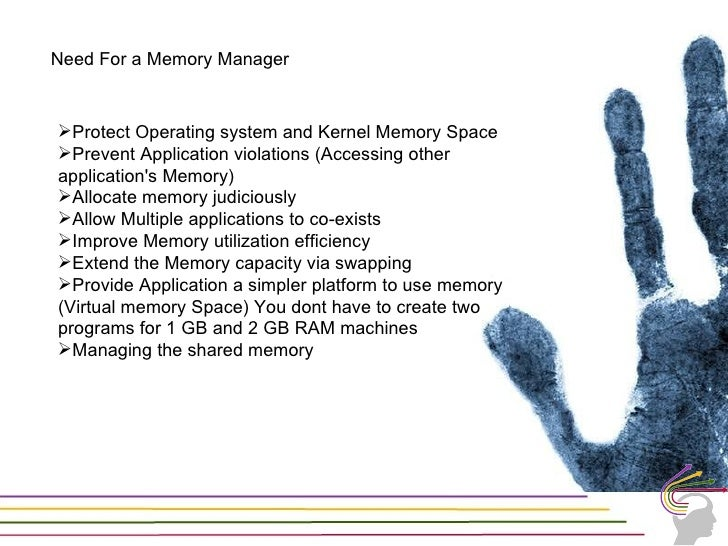 User mode v/s kernel Mode• Memory protection• Location of both the modes in RAM• /3GB switch in boot.ini• Where the Page d...