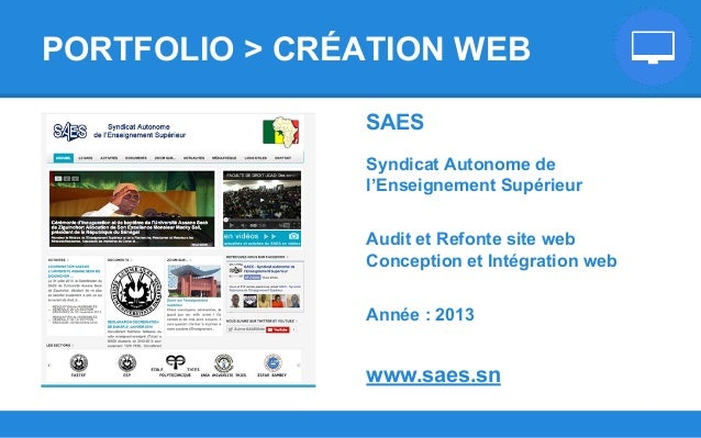 SAES Syndicat Autonome de l'Enseignement Supérieur Audit et Refonte site web Conception et Intégration web Année : 2013 ww...