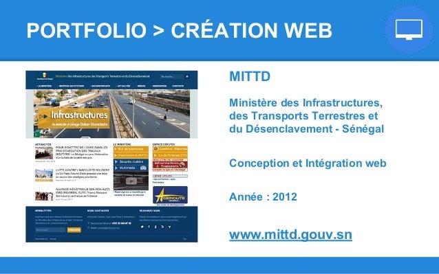 MITTD Ministère des Infrastructures, des Transports Terrestres et du Désenclavement - Sénégal Conception et Intégration we...