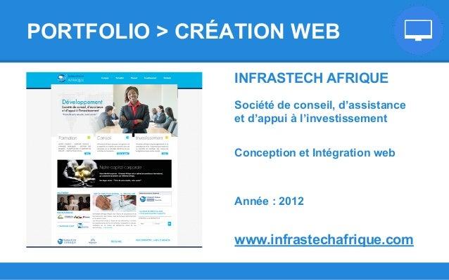 INFRASTECH AFRIQUE Société de conseil, d'assistance et d'appui à l'investissement Conception et Intégration web Année : 20...