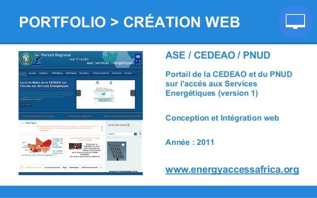 ASE / CEDEAO / PNUD Portail de la CEDEAO et du PNUD sur l'accés aux Services Energétiques (version 1) Conception et Intégr...