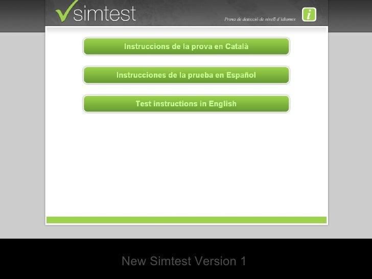 New Simtest Version 1