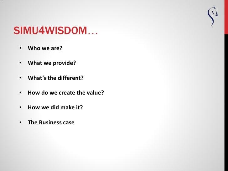 Simu4wisdom intro en Slide 2