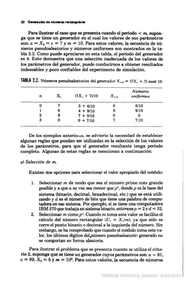22 Gianna-ación do números ractanauhm  Para ilustrar el caso que se presenta cuando el periodo < m,  supon- ga que se tien...
