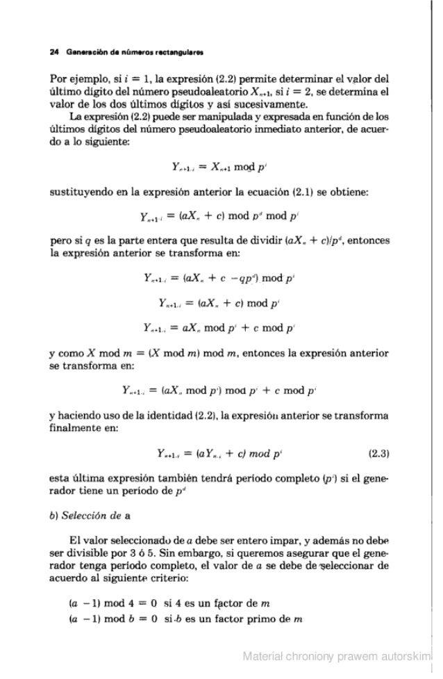 """24 Gnmncibn de números roctannulares  Por ejemplo.  si i"""" =  l,  la expresión (2.2) permite determinar el valor del último..."""