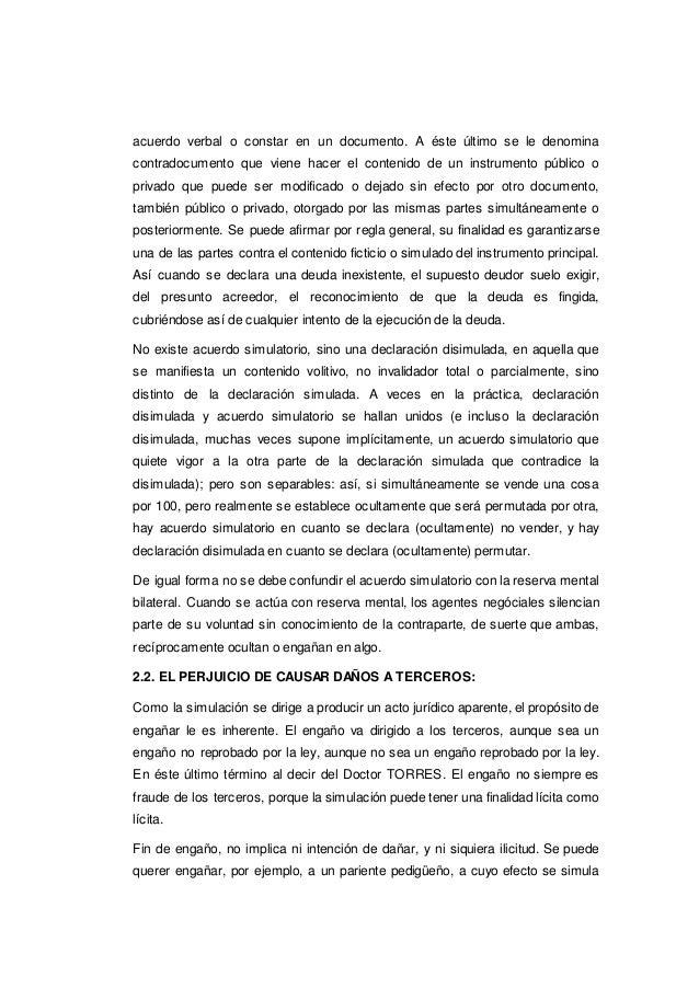 Simulacion del acto juridico fraude y error for Validez acuerdo privado clausula suelo