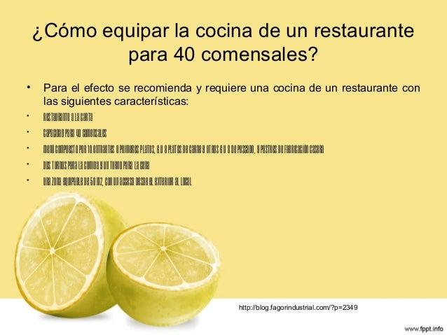 Simulación implementación equipamento de un restaurante para 40 comensales Slide 3