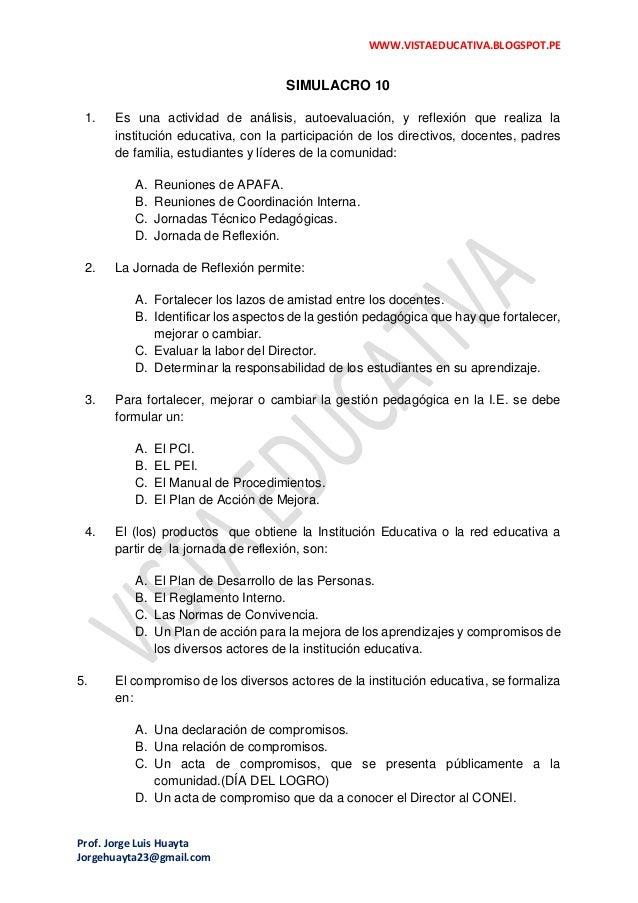 WWW.VISTAEDUCATIVA.BLOGSPOT.PE Prof. Jorge Luis Huayta Jorgehuayta23@gmail.com SIMULACRO 10 1. Es una actividad de análisi...