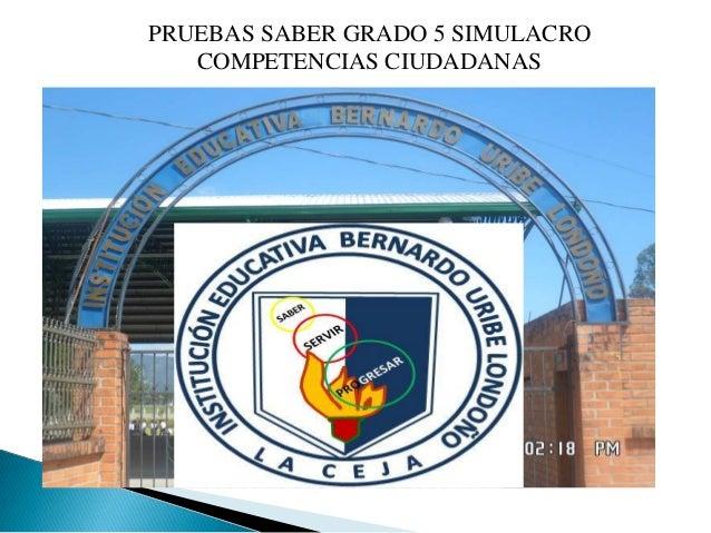 PRUEBAS SABER GRADO 5 SIMULACRO   COMPETENCIAS CIUDADANAS