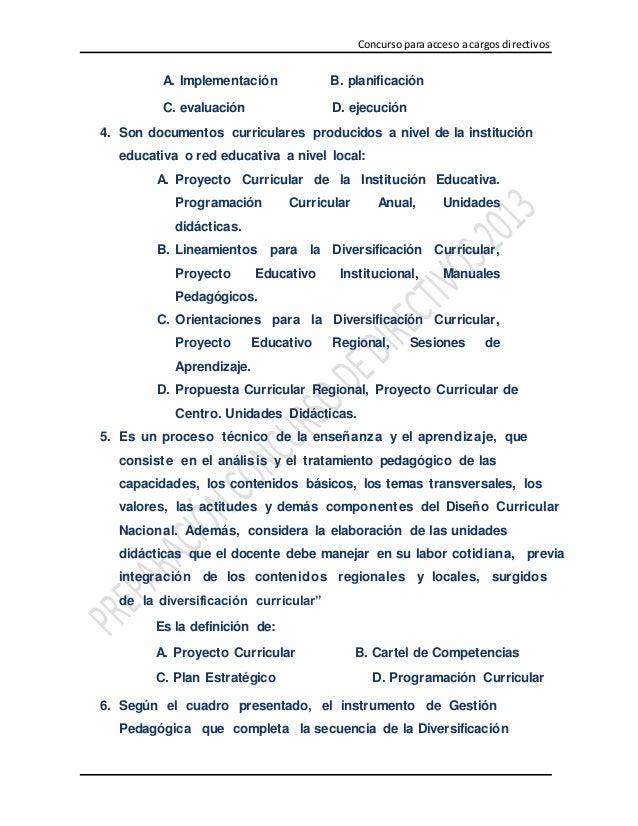 Simulacro de examen docente 100 preguntas de casos pedagogicos   subido por yhon jorge garro.l Slide 2