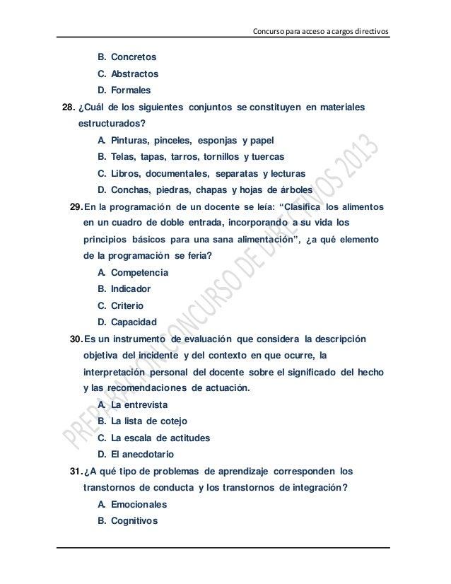 Simulacro de examen docente 100 preguntas de casos pedagogicos subi - Preguntas examen manipulador de alimentos ...