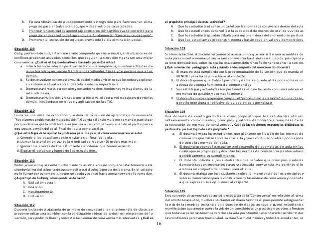 16 B. Ejecutar dinámicas de grupopromoviendo la integración para favorecer un clima propicio para el trabajo en equipo y d...