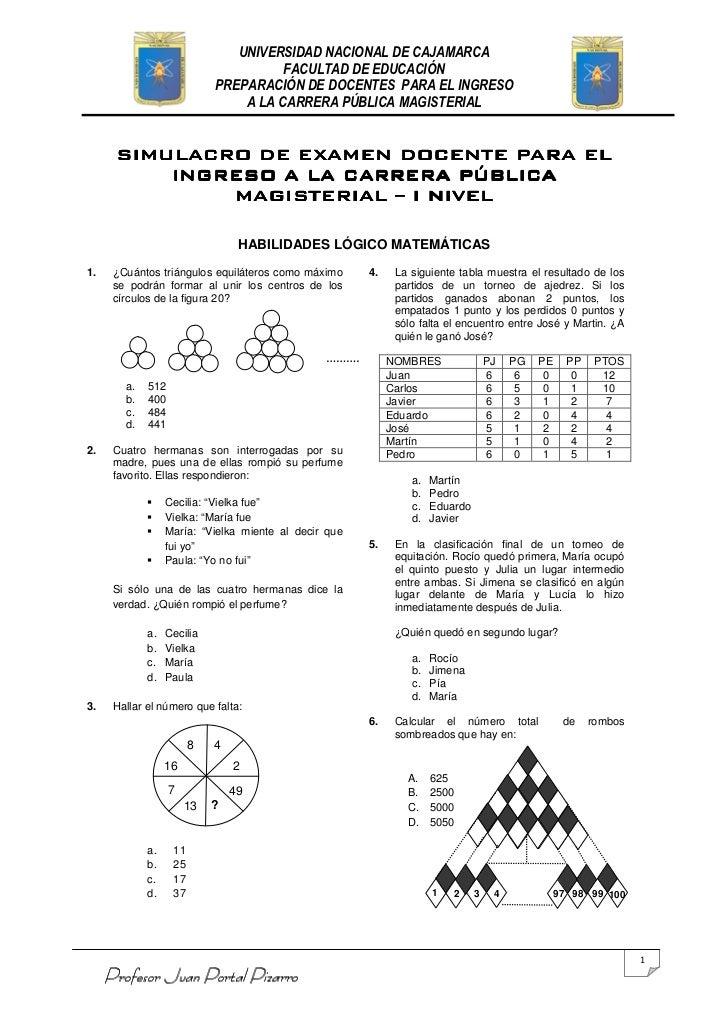 UNIVERSIDAD NACIONAL DE CAJAMARCA                                      FACULTAD DE EDUCACIÓN                            PR...