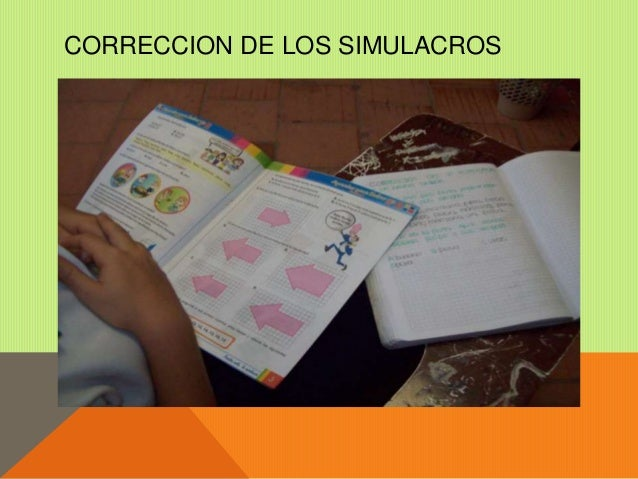 CORRECCION DE LOS SIMULACROS
