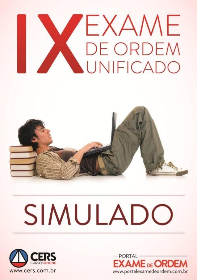 Simulado - OAB 1ª Fase - IX Exame www.portalexamedeordem.com.br 1