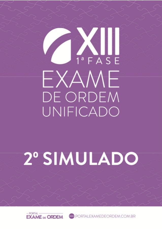 www.cers.com.br Simulado - OAB 1ª Fase - XIII Exame 1