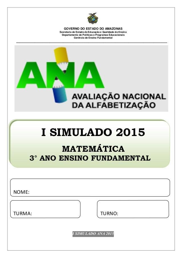 GOVERNO DO ESTADO DO AMAZONAS Secretaria de Estado de Educação e Qualidade do Ensino Departamento de Políticas e Programas...