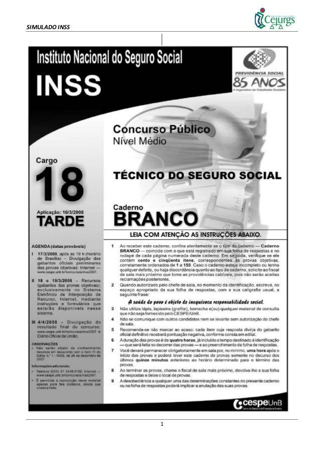 SIMULADO INSS 1
