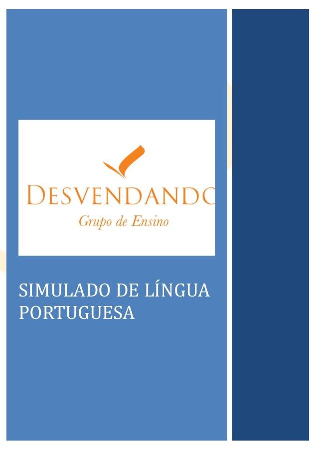 SIMULADO DE LINGUAPORTUGUESA