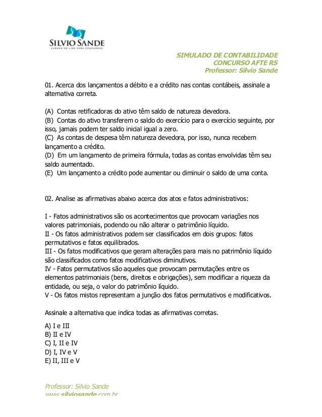 Simulado AFTE - Rio Grande do Sul