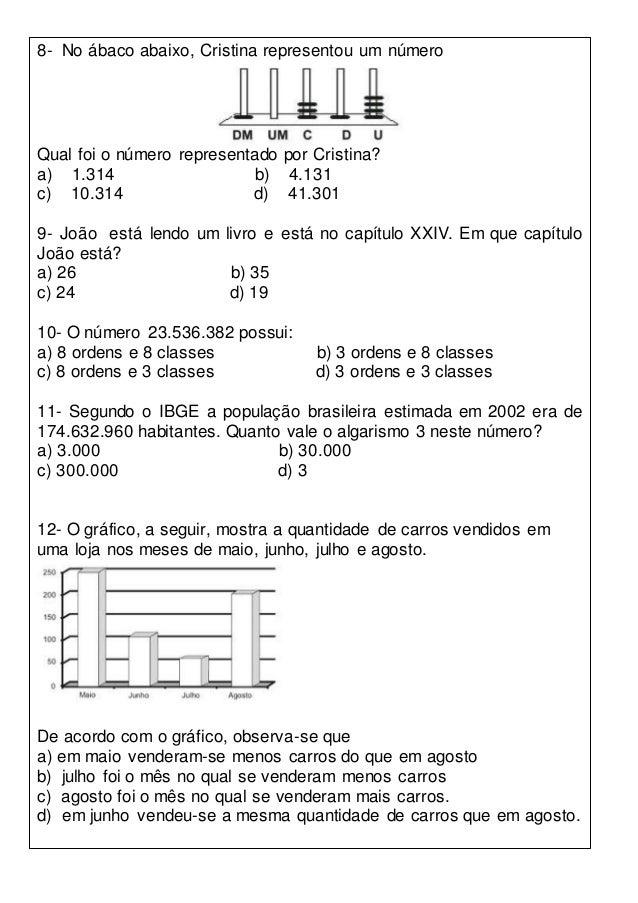 Simulado 5º ano de matemática Slide 3