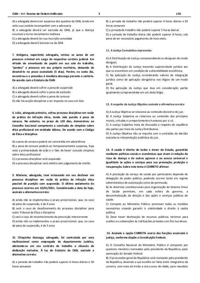 Portal exame de ordem simulado