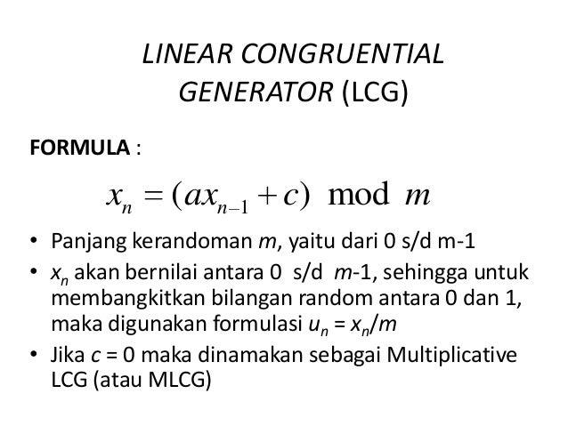 Cara mencari modulus dengan menggunakan rumus LCG