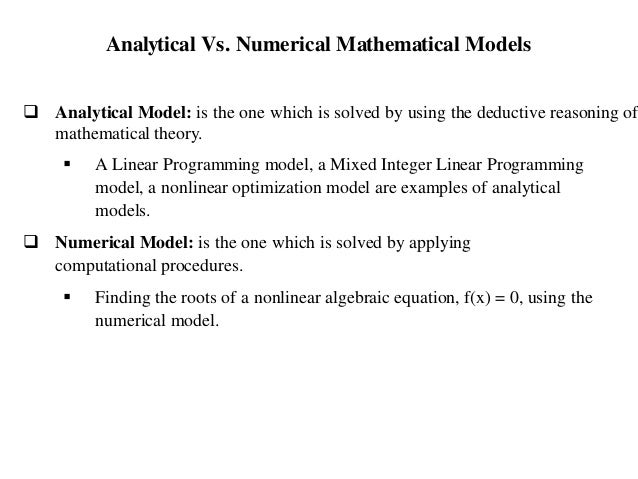 All types of model(Simulation & Modelling)