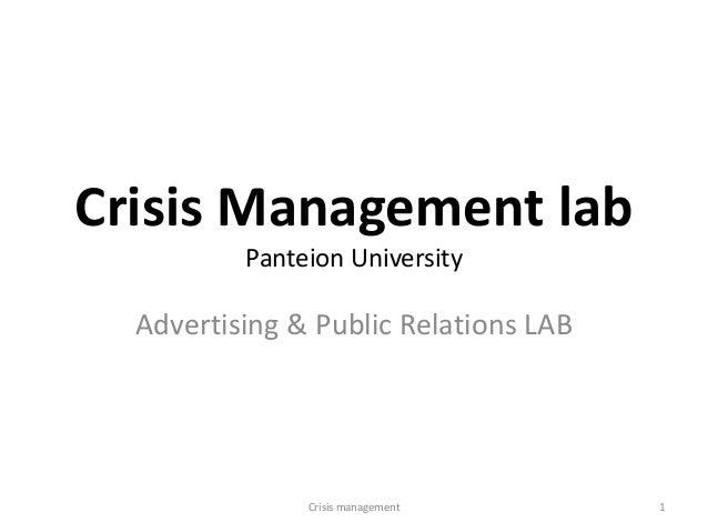 Crisis Management labPanteion UniversityAdvertising & Public Relations LAB1Crisis management