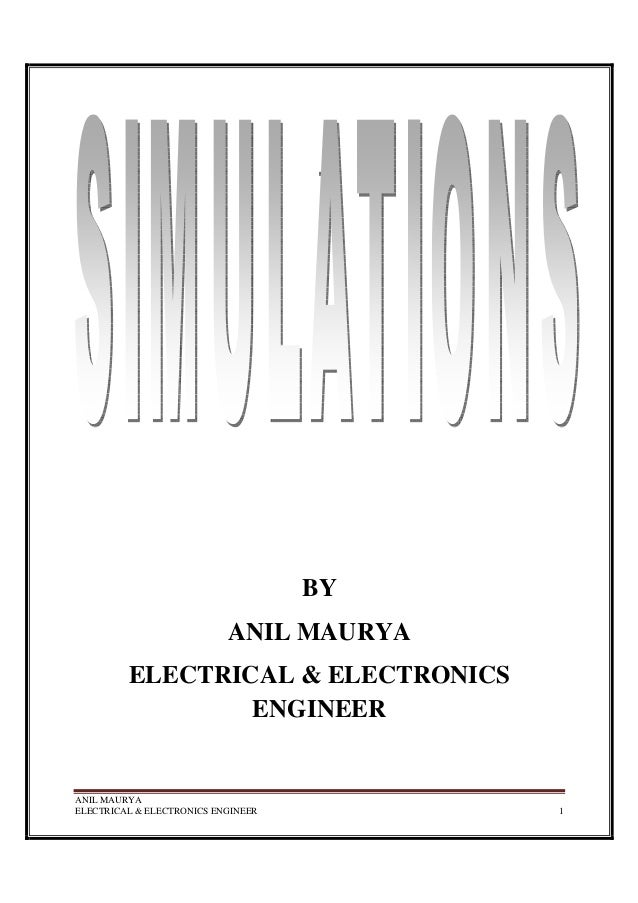 ANIL MAURYA ELECTRICAL & ELECTRONICS ENGINEER 1 BY ANIL MAURYA ELECTRICAL & ELECTRONICS ENGINEER