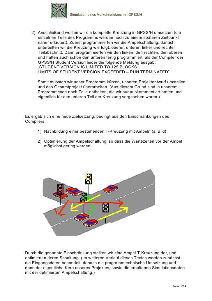 Simulation eines Verkehrsnetzes mit GPSS/H