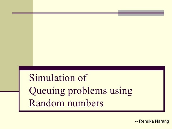 paperson use of pseudorandom numbers in simulation Pseudo-random numbers in python: from arithmetic to probability distributions there's not always some plutonium-239 lying around every time we need to use true as wikipedia notes, prngs are central in applications such as simulations (eg for the.
