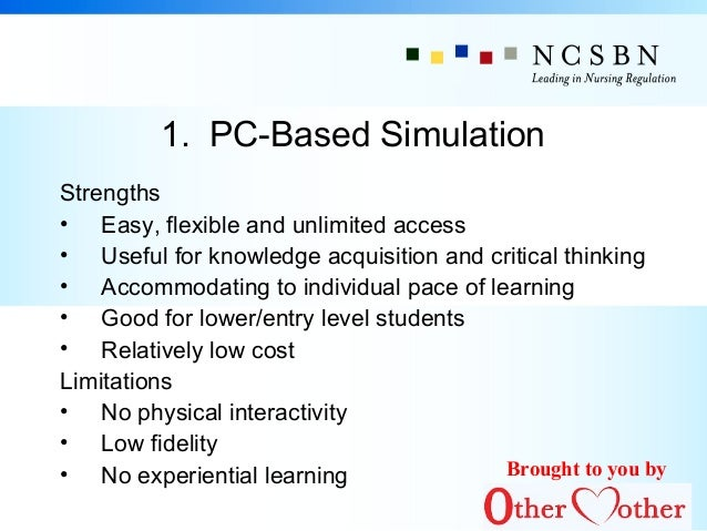simulation in nursing an analysis Educational issues in nursing practice a cost–utility analysis of medium vs high-fidelity human patient simulation manikins in nursing education.
