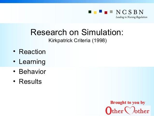 nursing simulation dissertation