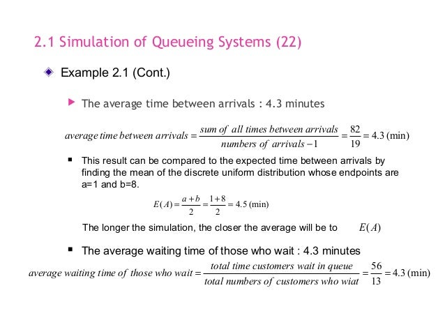 Simulation & Modeling - Smilulation Queuing System