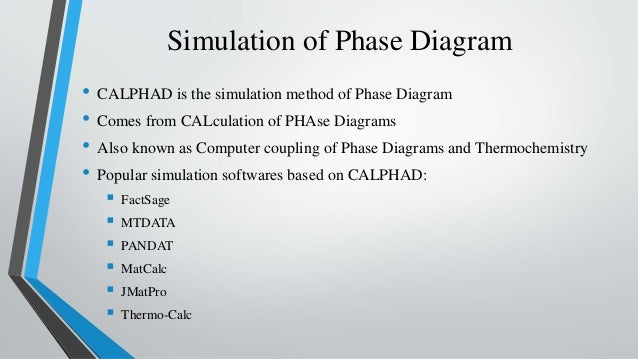 Simulation Of Phase Diagram And Its Advantages