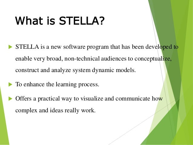 Simulation and Modelling by Using Stella Software