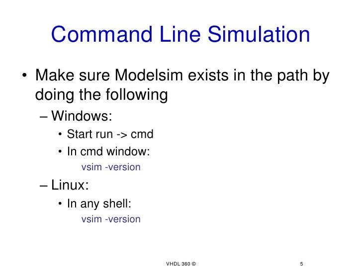 Simulation using model sim