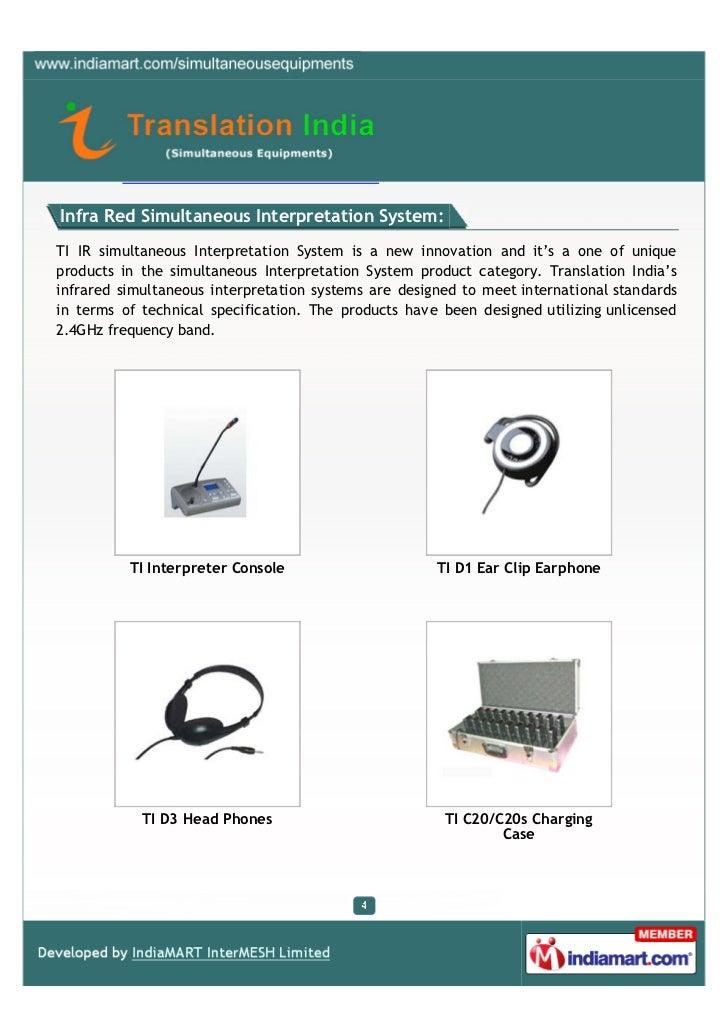 Translation India Simultaneous Equipments New Delhi