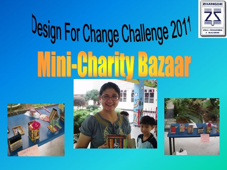 Organizing a charity bazaar to raise funds.