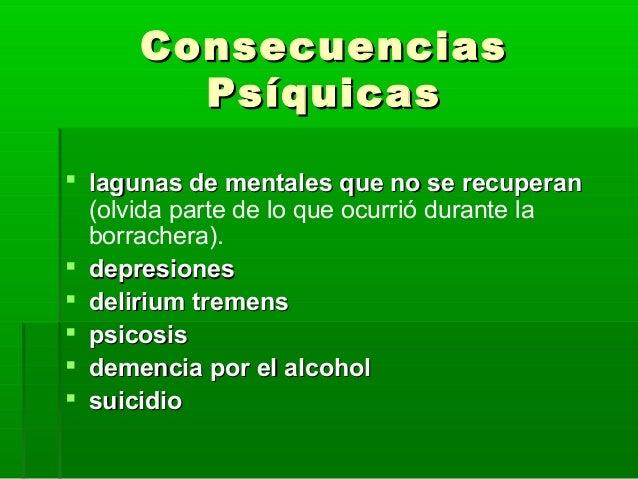 Las enfermedades de los riñones y el hígado al alcoholismo