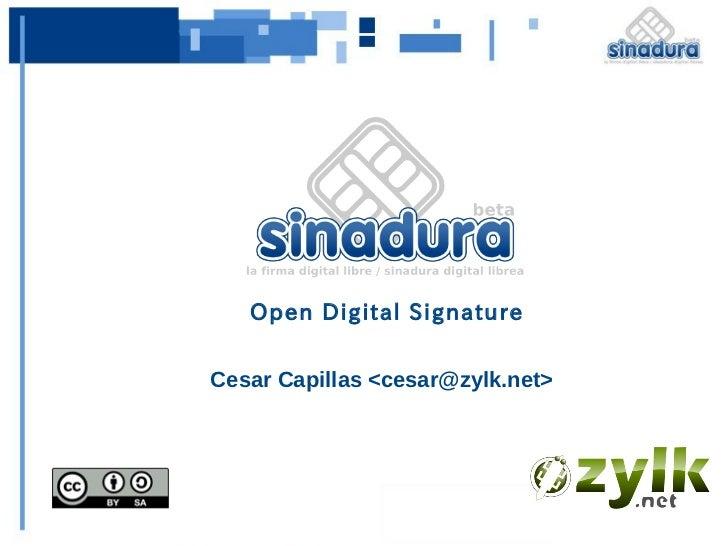 Open Digital SignatureCesar Capillas <cesar@zylk.net>