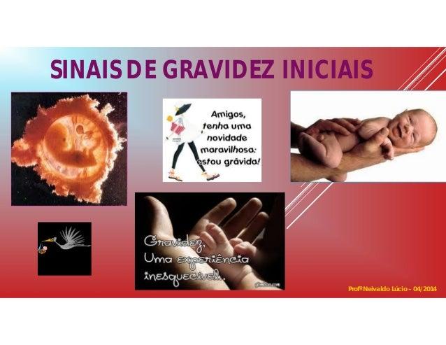 SINAIS DE GRAVIDEZ INICIAIS Profº Neivaldo Lúcio – 04/2014