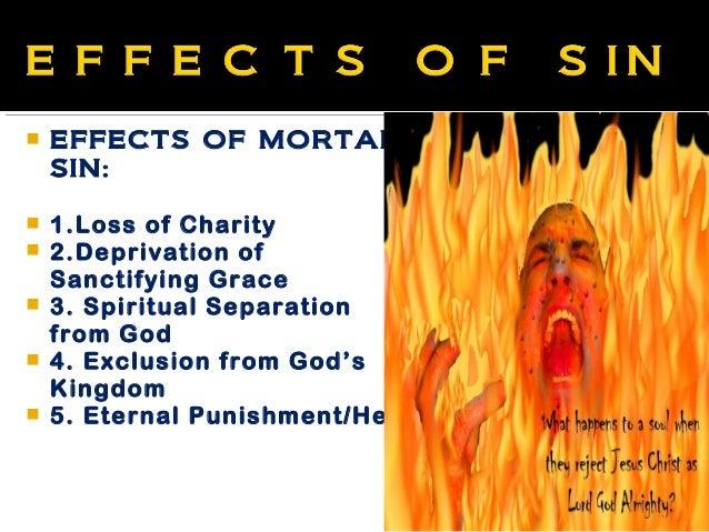 Effects of mortal sin