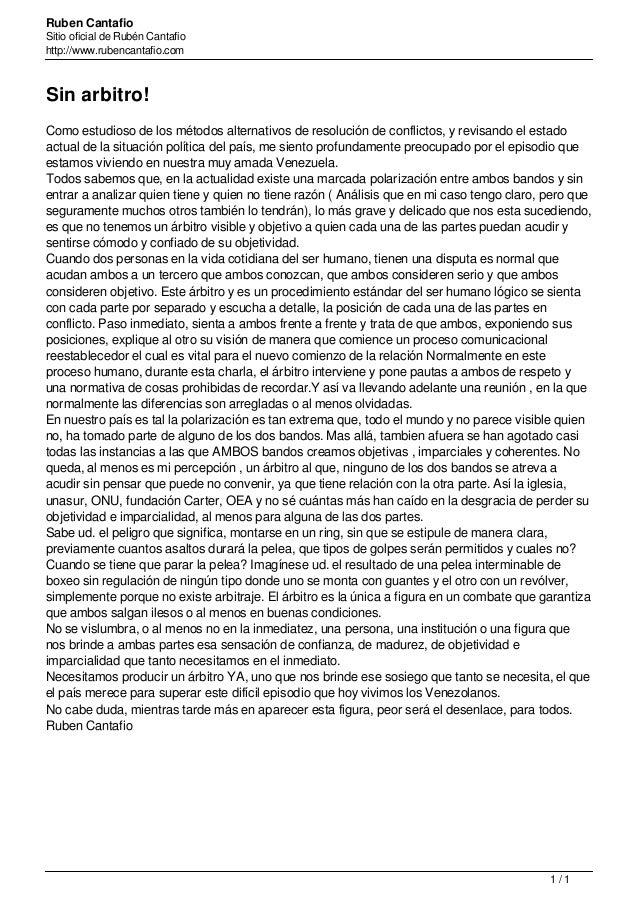 Ruben Cantafio Sitio oficial de Rubén Cantafio http://www.rubencantafio.com Sin arbitro! Como estudioso de los métodos alt...