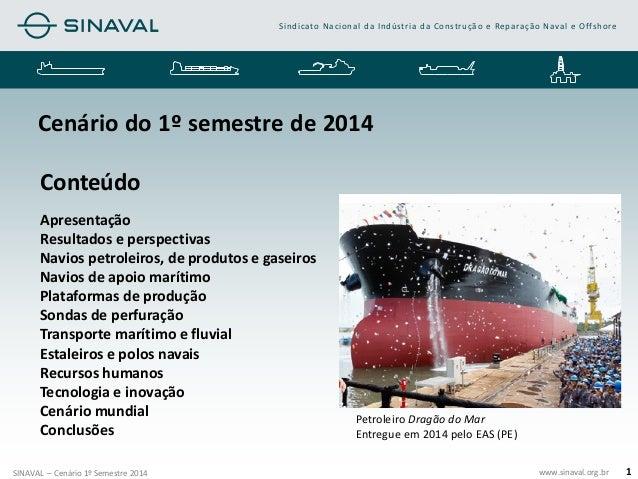 www.sinaval.org.br  Sindicato Nacional da Indústria da Construção e Reparação Naval e Offshore  SINAVAL – Cenário 1º Semes...