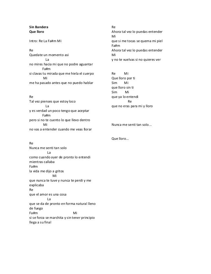 Sin Bandera Que Lloro Que Lloro Music Video | MetroLyrics