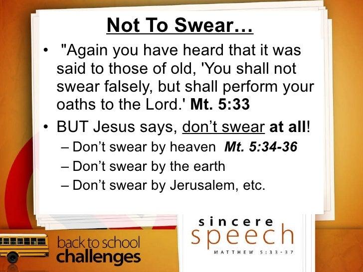 Sincere Speech Slide 3